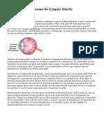 Síntomas Del Glaucoma De Ángulo Abierto