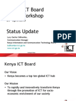 Kenya ICT Board upcoming projects and events fro Media Workshop April 23