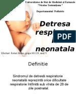 Detresa respiratorie neonatala