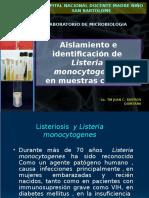 Aislamiento e Identificacion de Listeria monocytogenes