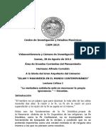 CIEM 2014 Videoconferencia y Exposicion en Rivera Masoneria e Islam