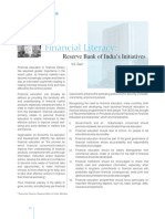 Financial Literacy - Reserve Bank of India's Initiatives