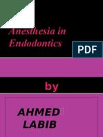 Anesthesia in Endodontics
