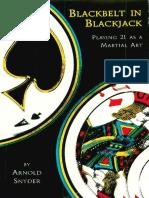 Blackbelt in Blackjack - Arnold Snyder