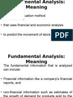 Fundamental Analysis