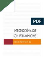 Introducción a Los SOR. Redes Windows