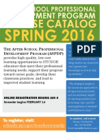 ASPDP Spring 2016 Course Catalog