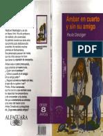 Ámbar en Un Cuarto y Sin Su Amigo. Paula Danziger