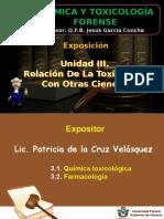 Exposicion Unidad 3 -Relación de La Toxicología Con Otras Ciencias