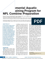 Marsico, M.F. (2015). a Supplemental Aquatic Speed Training Program for NFL Combine Preparation