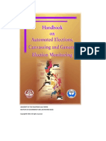 Handbook on Automated Elections, Canvassing and General Election Monitoring (U.P. Law Center, PPCRV)
