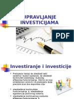 Milica Bošković - Upravljanje Investicijama