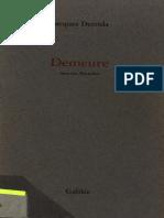Jacques Derrida  _DEMEURE_   ( Maurice Blanchot )