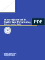 Measurement of Healthcare Perf