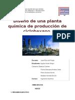 diseño de una planta ciclohexano