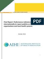 Final Report NHPA International Performance Indicators AIHI