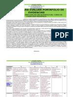 Rubrica Para Evaluar Portafolio de Evidencias 2016 n300