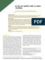 Mediterranean diet and cognitive health