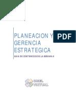Planeacion y Gerencia Estrategica