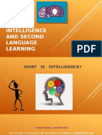 Intelligence and Second Language Learning