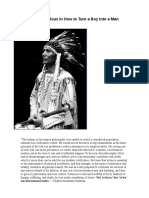 Lessons From the Sioux in How to Turn a Boy Into a Man