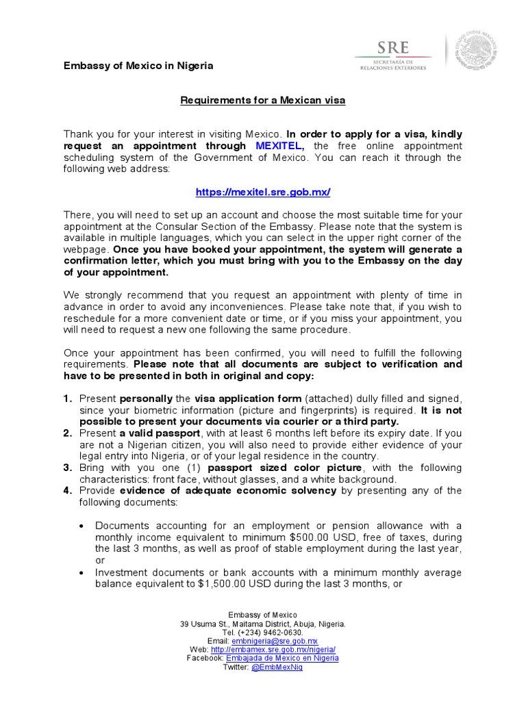 Mexican Visa Requirements_JAN2016 Final | Travel Visa | Passport