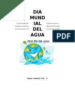 El Día Mundial Del Agua Fue Propuesto en La Conferencia de Los