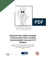 redmond water utilities strategic communications plan feb  29 final
