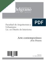 3606-Arte Contemporaneo - Arte Povera - Heredia