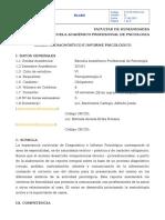 Diagnóstico e Informe Psicológico
