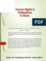 Human Rights and Obligations in Islam Seminar No 3
