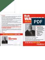 Bob Watters election leaflet Pt. 1.