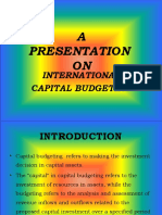 Intl. Capital Budgeting, Banshi