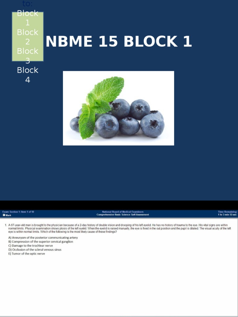 Nbme 15 block 4 answers