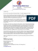 letter of recommendation for saraswoti shinkle