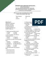 Soal UTS Bahasa Bali Kelas VI