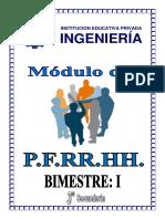 PFRH 3º SEC - I BIMESTRE