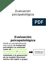 Evaluación psicopatológica