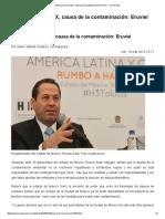 Basura de La CDMX, Causa de La Contaminación_ Eruviel — La Jornada