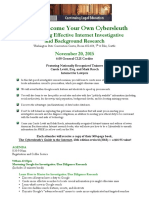 King County Bar Cybersleuth Internet Investigative Research CLE 2015