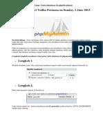 Cara Membuat Relasi Antar Tabel Database Di PhpMyAdmin