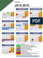 Calendario Escolar Galicia 2015-2016