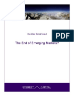 The End of Emerging Markets