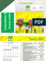 Calendario Escolar Enero-jul 2016