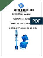 Pump Manual Cvp 80 302 50 Sa (Hc) 1