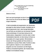 Van der Wielen-lezing Job Cohen 26-03-2010
