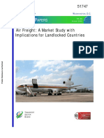 Air Freight a Market Study With Implications for Landlocked Countries