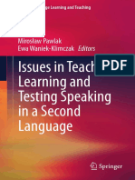 (Second Language Learning and Teaching) Miroslaw Pawlak_ Ewa Waniek-Klimczak-Issues in Teaching_ Learning and Testing Speaking in a Second Language-Springer (2015).pdf