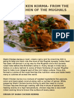 Shahi Chicken Korma- from the Royal Kitchen of the Mughals