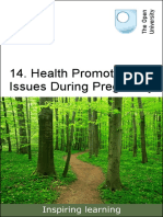 Health Promotion Issues During Pregnancy